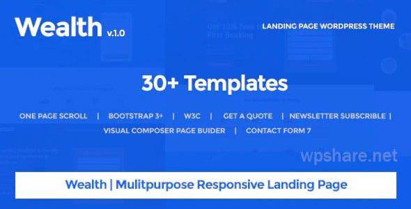 Wealth – Multi-Purpose Landing Page WordPress Theme v1.2.9