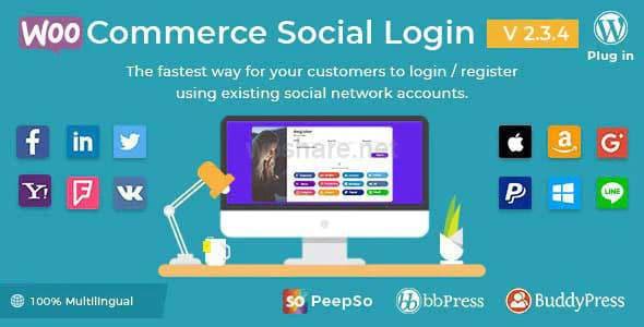 WooCommerce Social Login – WordPress Plugin v2.3.4