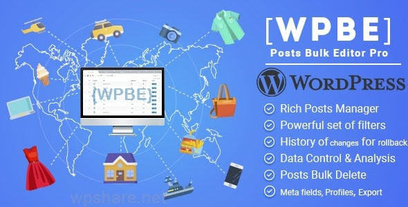 WPBE – WordPress Posts Bulk Editor Professional v2.0.2