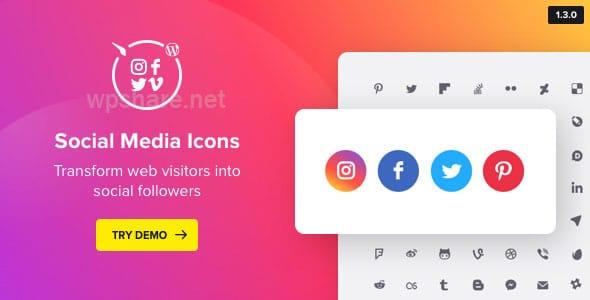 Social Media Icons WordPress – Social Icons Plugin v1.7.1
