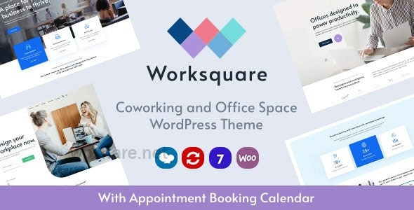 Worksquare 1.5 – Coworking and Office Space WordPress Theme