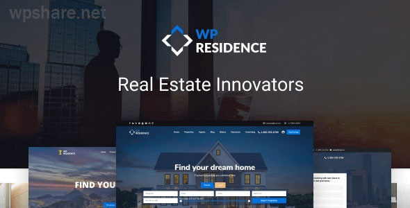 Residence Real Estate WordPress Theme v3.6.0