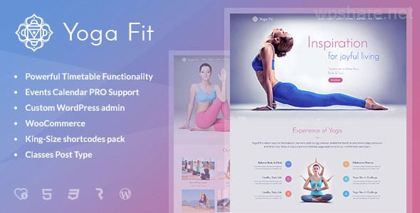Yoga Fit – Sports & Fitness WordPress Theme v1.2.9