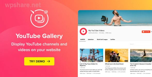 YouTube Plugin – WordPress YouTube Gallery v3.5.0