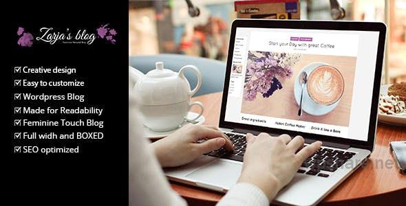 Zarja v2.2 – Feminine WordPress Blog Theme