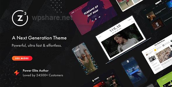 Zeen | Next Generation Magazine WordPress Theme v3.9.8.4