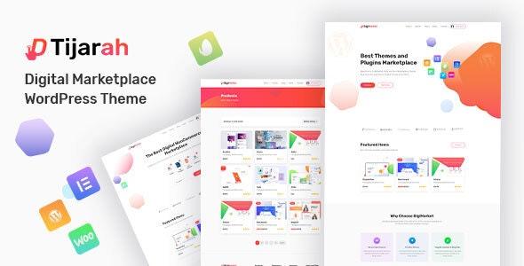 Tijarah 1.3.3 – Digital Marketplace WooCommerce Theme
