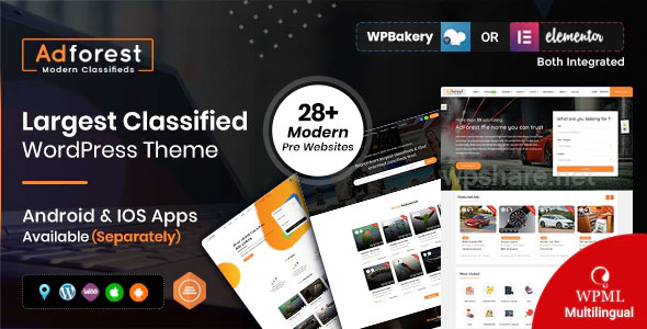 AdForest 4.4.6 – Classified Ads WordPress Theme