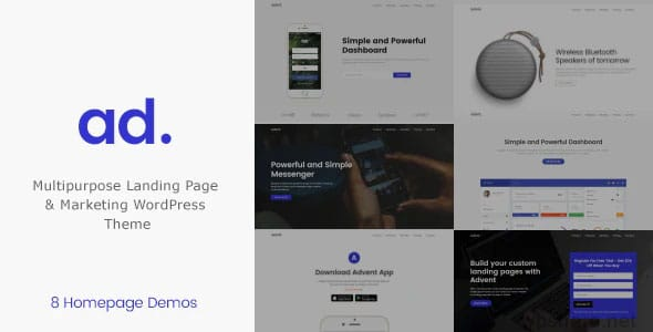 Advent 1.3.6 – Marketing Landing Page WordPress Theme