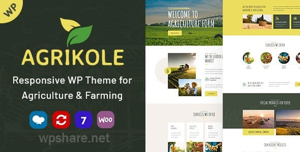 Agrikole v1.6 – Responsive WordPress Theme for Agriculture & Farming