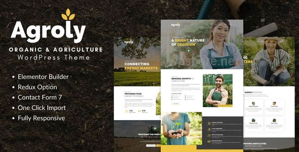 Agroly 1.0 – Organic & Agriculture Food WordPress Theme