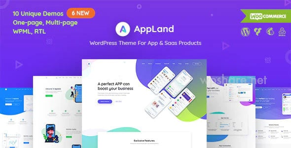AppLand 2.9.4 – WordPress Theme For App & Saas Products