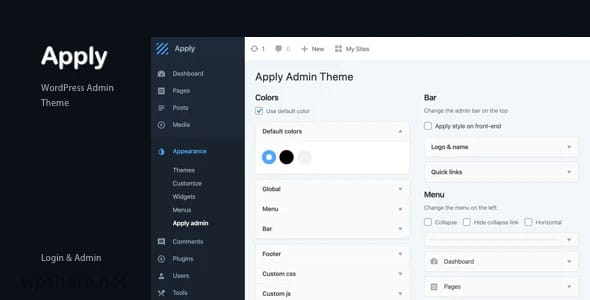 Apply 1.0.0 – WordPress Admin Theme