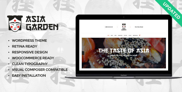 Asia Garden 1.2.1 – Asian Food Restaurant WordPress Theme