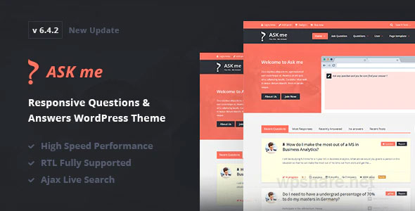 Ask Me v6.4.4 – Responsive Questions & Answers WordPress