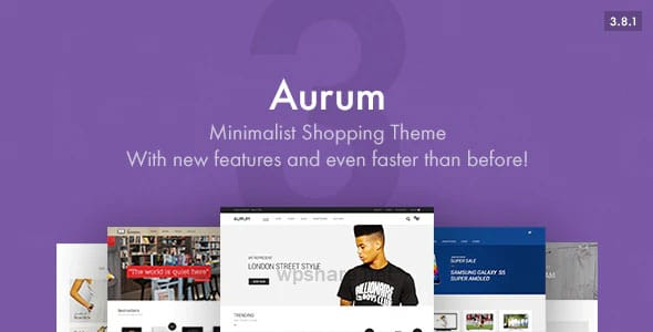 Aurum 3.8.1 – Minimalist Shopping WordPress Theme