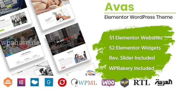 Avas v6.1.30 – Elementor WordPress Theme