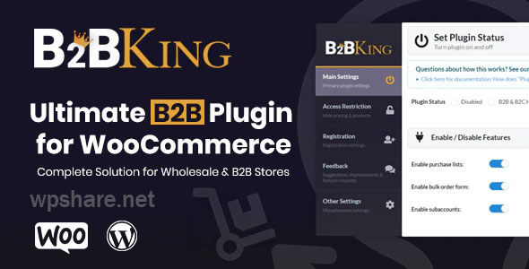 B2BKing 3.3.5 – The Ultimate WooCommerce B2B & Wholesale Plugin