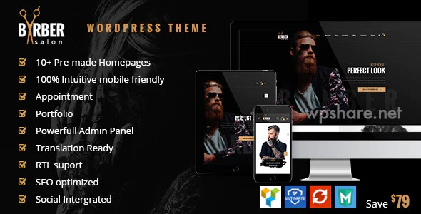 Barber 1.2.7 – Hair, Tattoo & Beauty Salons WordPress Theme