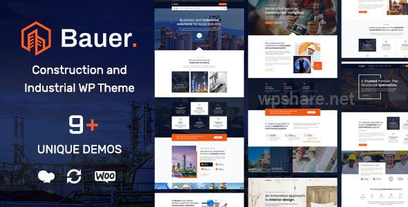 Bauer 1.12 – Construction and Industrial WordPress Theme