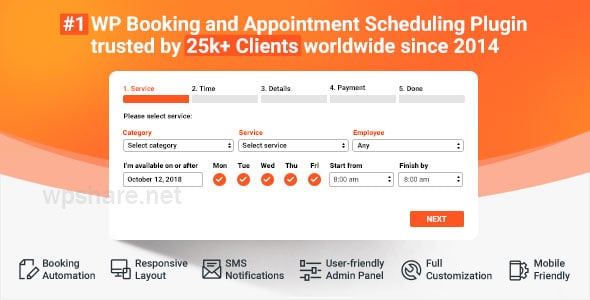 Bookly PRO 3.4 + Addons 19.1 – Appointment Booking and Scheduling Software System
