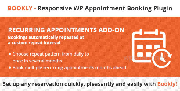 Bookly Recurring Appointments Addon v3.6