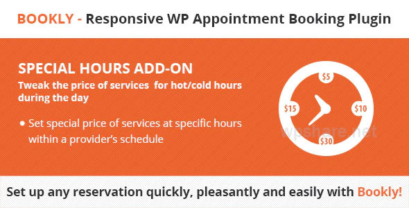 Bookly Special Hours Addon v2.5