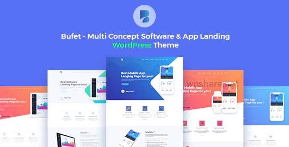 Bufet 2.1.6 – Multi Concept Software & App Landing WordPress Theme + RTL
