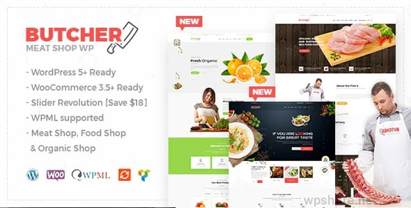 Butcher 2.22 – Meat Shop WooCommerce WordPress Theme