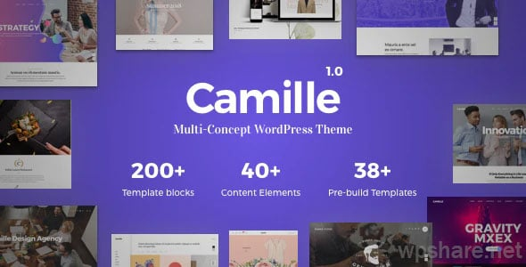 Camille 1.1.2 – Multi-Concept WordPress Theme