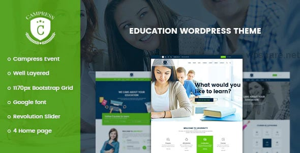 Campress 1.20 – Responsive Education, Courses and Events WordPress Theme