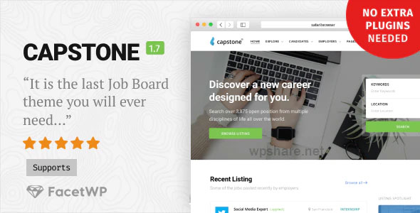 Capstone 1.7.2 – Job Board WordPress Theme