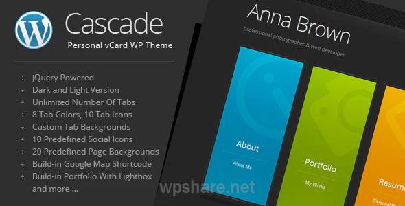 Cascade 8.2 – Personal vCard WordPress Theme