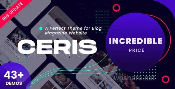 Ceris – Magazine & Blog WordPress Theme v2.6.1