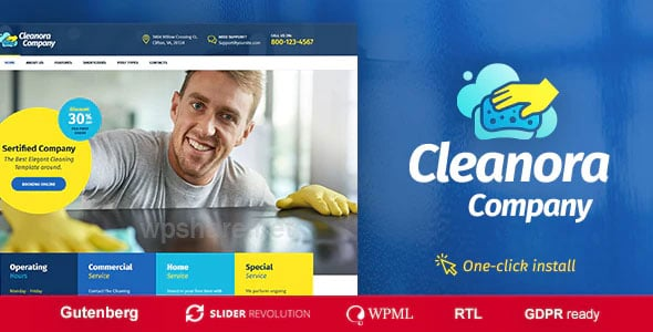 Cleanora 1.0.7 – Cleaning Services Theme