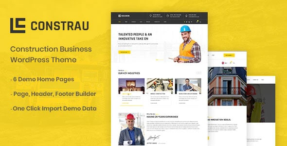 Constrau 1.1.7 – Construction Business WordPress Theme