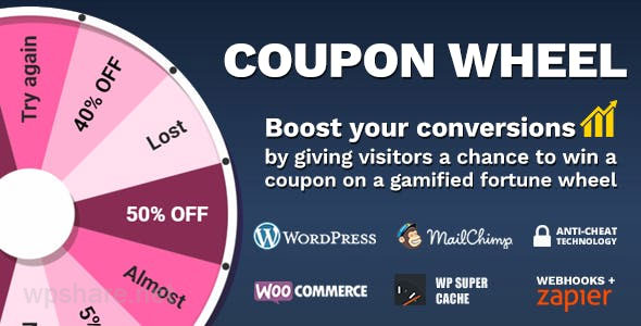 Coupon Wheel For WooCommerce and WordPress v3.4.5