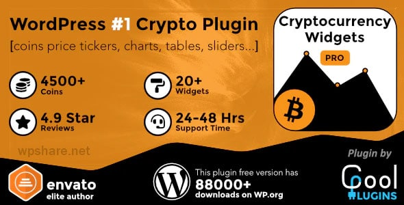 Cryptocurrency Widgets Pro 2.9 – WordPress Crypto Plugin