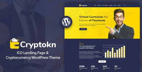 Cryptokn 1.2 – ICO Landing Page & Cryptocurrency Theme