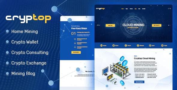 CrypTop 1.0.6 – ICO Landing and CryptoCurrency WordPress Theme