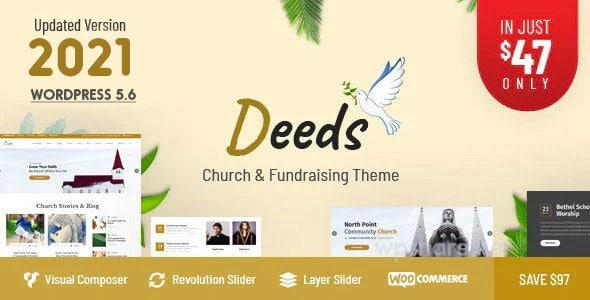 Deeds 8.1 – Best Responsive Nonprofit Church WordPress Theme