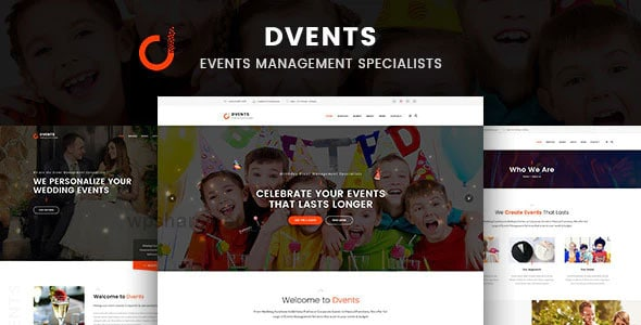 Dvents 1.1.7 – Events Management Companies and Agencies WordPress Theme