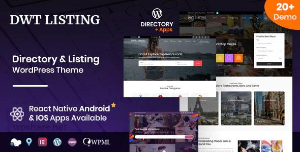 DWT Listing 3.2.0 – Directory & Listing WordPress Theme