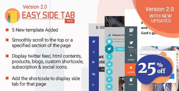 Easy Side Tab Pro 2.0.7 – Responsive Floating Tab Plugin For WordPress