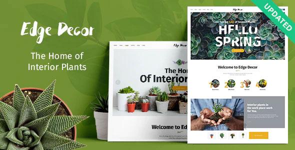 Edge Decor 1.2.1 – A Modern Gardening & Landscaping Theme