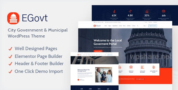 EGovt 1.0.4 – City Government WordPress Theme