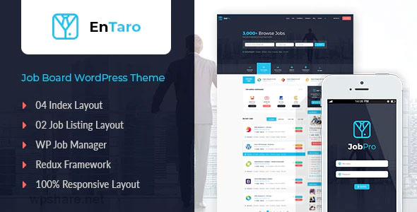 Entaro 3.18 – Job Portal WordPress Theme