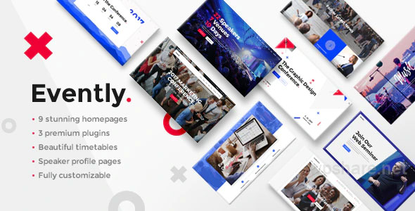 Evently v1.9 – Conference & Meetup Theme