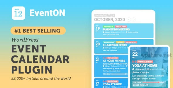 EventOn v3.0.7 – WordPress Event Calendar Plugin And Addons