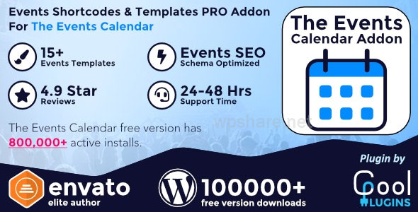 The Events Calendar Shortcode and Templates Pro 2.5
